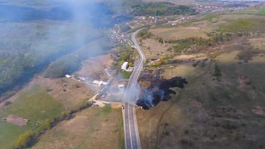 Pompierii clujeni luptă cu incendiile de vegaţie! Trei solicitări în doar câteva ore. FOTO