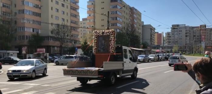 Icoana făcătoare de minuni de la mănăstirea clujeană Nicula a fost plimbată prin Cluj-Napoca. VIDEO