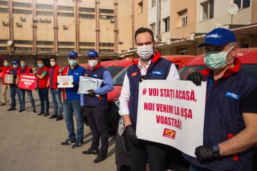 Medicamentele pacienților Spitalului Județean de Urgență Cluj, livrate la domiciliu prin Poșta Română