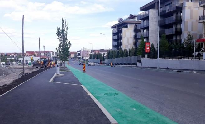 Lucrările de modernizare a străzii Bună Ziua, pe ultima sută de metri