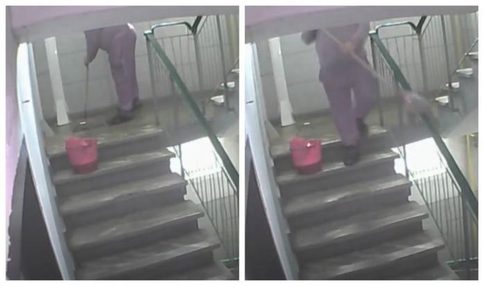 Rușinos! Cum se curăță scările de bloc din Cluj? Cu mopul și pe jos, și pe balustradă! Ce acuzații aduce președintele unei asociații de proprietari din Zorilor?