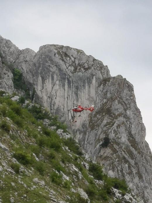 Alpinist clujean, preluat cu ELICOPTERUL SMURD după ce a căzut în timpul unei cățărări la Cheile Turzii