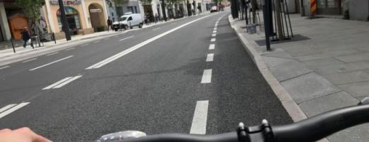 """Boc, despre pistele de pe Strada Ferdinand: """"Nu este marcajul final"""". Ce lățime vor avea din iulie"""