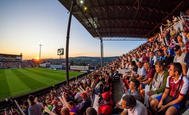 Fanii lui CFR Cluj la meciurile disputate în Gruia