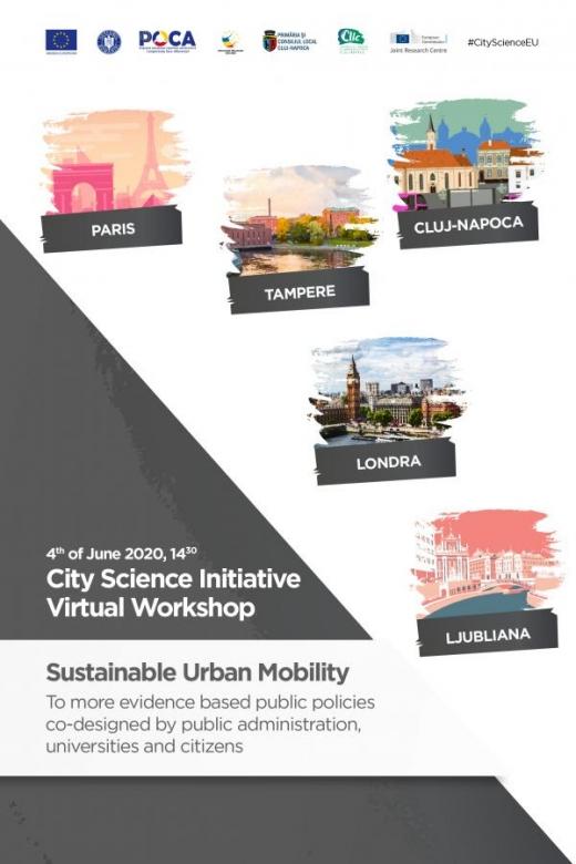 Webinar al grupului de mobilitate urbană sustenabilă, coordonat de Cluj-Napoca în cadrul City Science Initiative