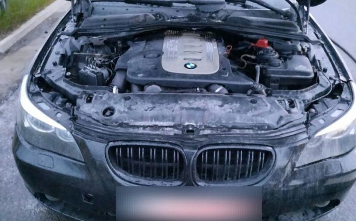 O mașină a luat foc pe A3 06.06.2020
