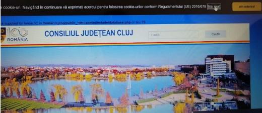 Site Consiliul Județean Cluj