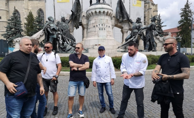 Protest bucătari Piața Unirii