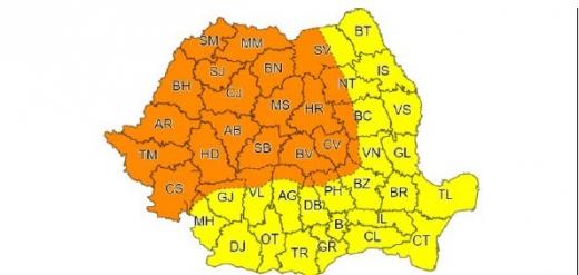 Cod Portocaliu în județul Cluj