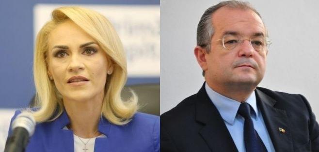 Gabriela Firea și Emil Boc