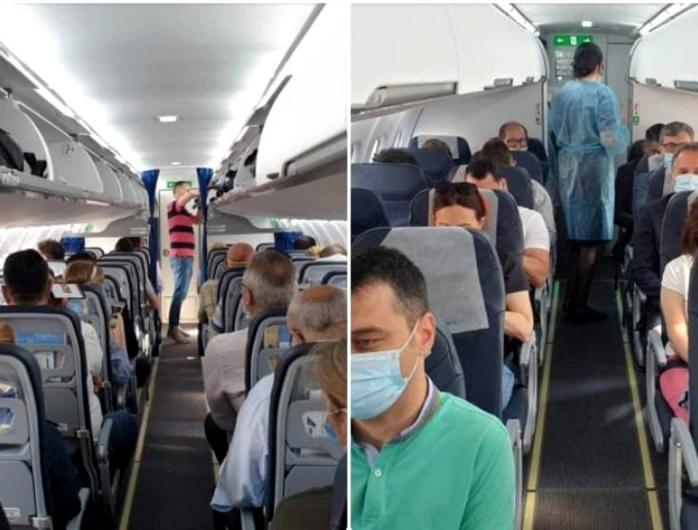 Distanțare socială ? Zborul Timișoara - Cluj - București cu toate locurile ocupate
