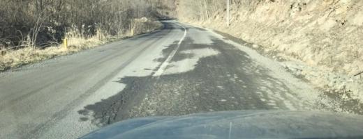 Circulație întreruptă pe un drum din Cluj