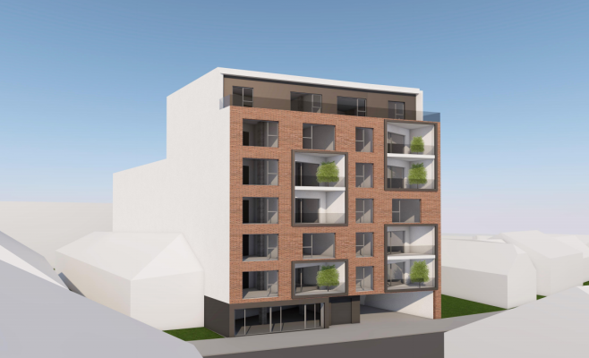 Un bloc de 5 etaje, construt între case pe strada Decebal, așteaptă aprobarea consiliului local. Vecinii sunt nemulțumiți