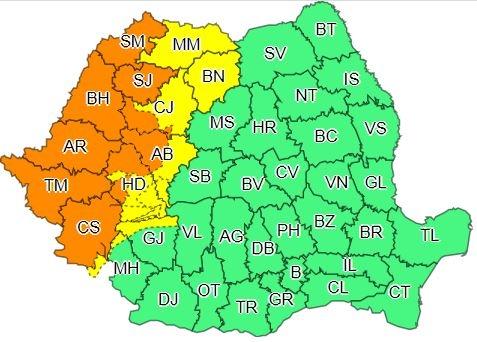 Revine vremea rea la Cluj. COD PORTOCALIU de vijelii
