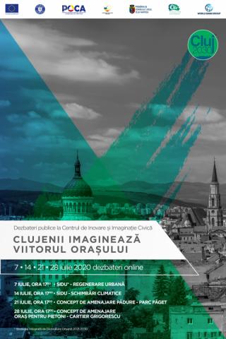 Dezbateri online la Centrul de Inovare și Imaginație Civică despre proiectele de viitor ale Clujului