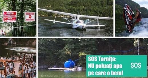"""Interzicerea ambarcațiunilor cu motor pe lacurile Tarnița și Beliș, amânată de peste 10 luni. """"Domnule Bode, vă ține să beți un pahar de apă direct din Tarnița?"""""""