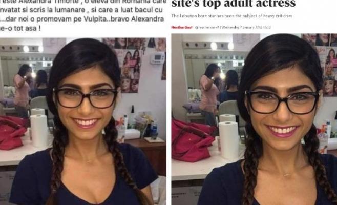 """Un consilier din Câmpia Turzii a postat o poză cu o actriță porno, spunând că e """"elevă de 10 la BAC"""""""