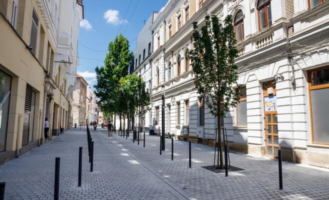 Strada Emil Zola, de nerecunoscut după modernizare