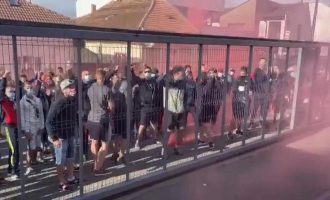 VIDEO. Fanii lui CFR Cluj au făcut show în Gruia! Zeci de suporteri și-au încurajat favoriții înaintea meciului cu Gaz Metan