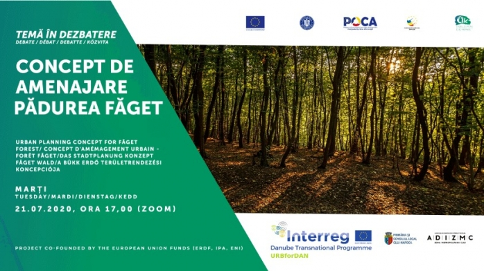 Dezbatere publică privind amenajarea pădurii urbane Făget