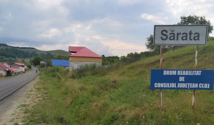 DJ 161 Panticeu – Sărata – limita cu județul Sălaj a fost asfaltat. VEZI cum arată! FOTO