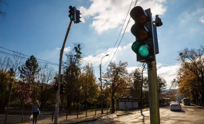 Semafor nou de astăzi pe o stradă din Cluj-Napoca