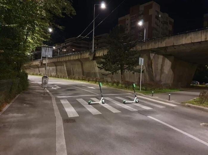 Trotinete electrice parcate haotic prin Cluj