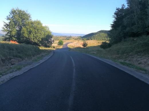Un drum județean din Cluj a fost lărgit și asfaltat
