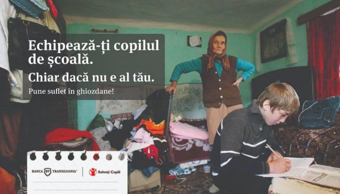 Banca Transilvania ajută copiii din familii defavorizate să meargă la școală