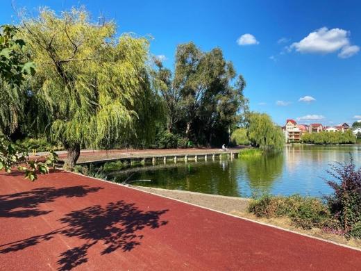 FOTO. A fost finalizată pista din jurul Lacului I Gheorgheni
