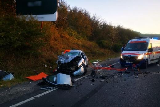 Accident rutier la ieșire din comuna Baciu. VIDEO