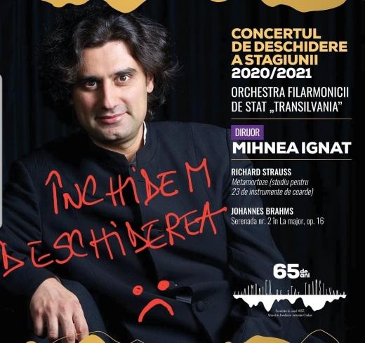 Au apărut două cazuri de COVID-19 la Filarmonica din Cluj