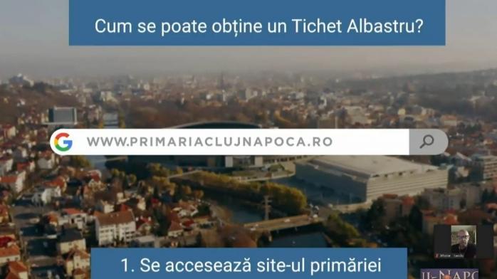 """""""Tichetul albastru"""", în premieră la Cluj-Napoca! Cum și la ce poate fi folosit?"""