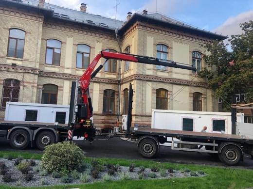Zeci de containere de locuit vor fi amenajate la unitățile medicale din Cluj, odată cu venirea sezonului rece