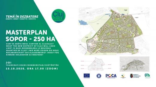 Noi dezbateri pentru viitorul Clujului. PUZ-ul cartierului Sopor și infrastructura educațională, în centrul atenției