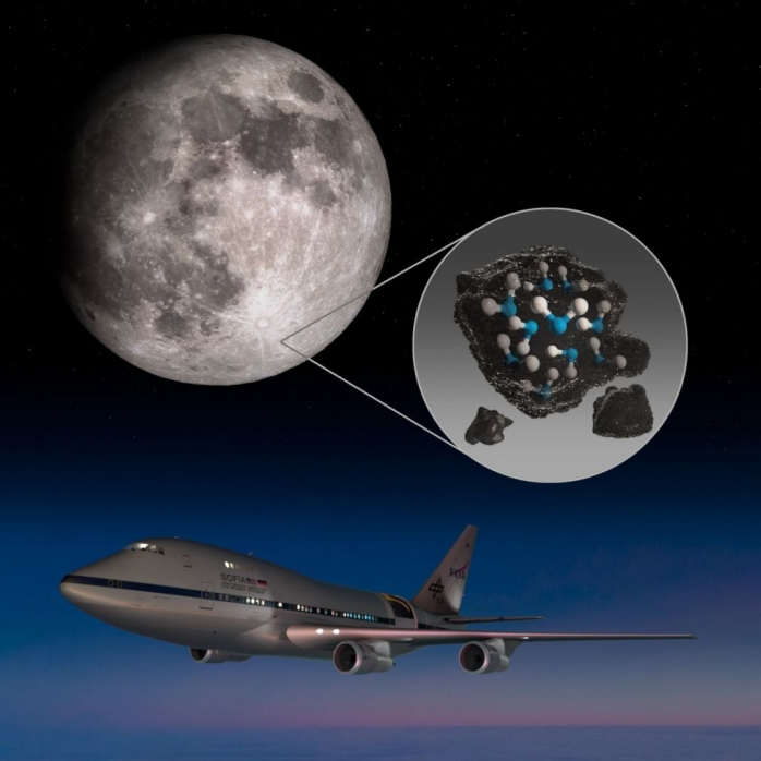 NASA a descoperit apă pe fața vizibilă a lunii. VIDEO