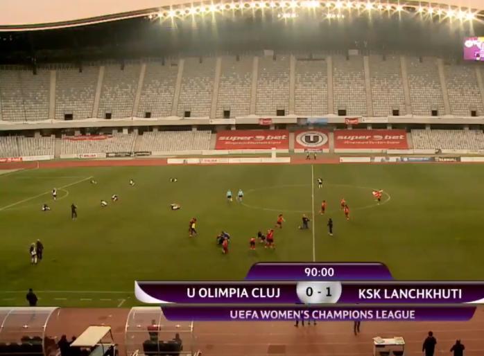 Olimpia Cluj a fost eliminată din Liga Campionilor fotbal feminin