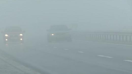 Ceață abundentă și vânt puternic în Cluj și încă 11 județe din țară