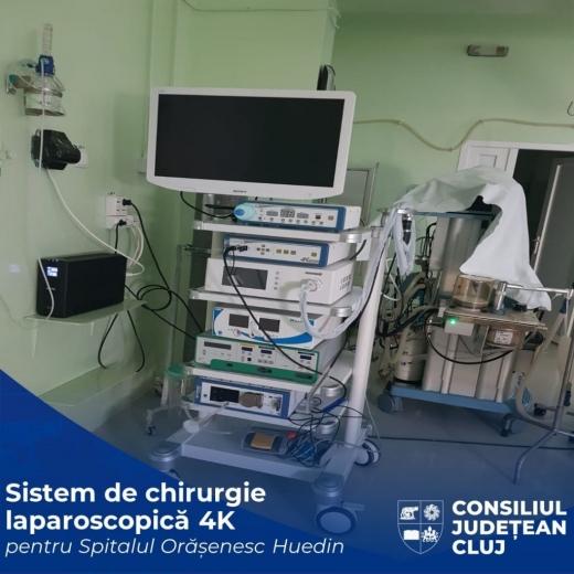 Sistem de chirurgie laparoscopică, pus în funcțiune la Spitalul Huedin