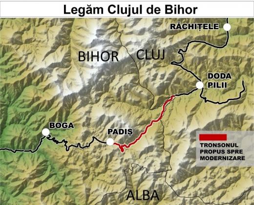 Consiliul Județean Cluj: Legăm Clujul de Bihor prin Apuseni