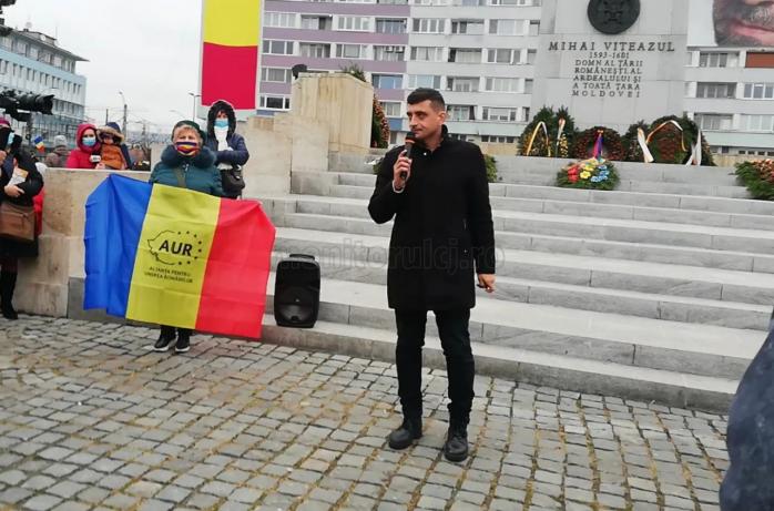 """George Simion, la Cluj: """"Datorită AUR, nu se mai anunță restricții de Sărbători"""". Cum s-a desfășurat mitingul AUR din Cluj-Napoca?"""