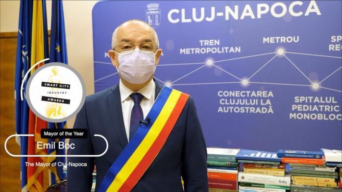 "Primarul Emil Boc a câștigat premiul ""Mayor of the Year"" în cadrul Smart City Industry Awards"