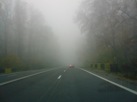 Cod galben de ceață, la Cluj. Vizibilitate redusă sub 50 de metri!