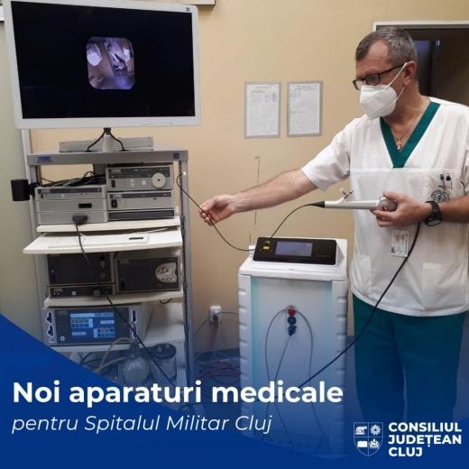 Aparaturi medicale de ultimă generație, la Spitalul Militar Cluj