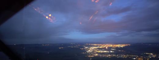 VIDEO. Clujul văzut din avion. Un pilot a filmat o aterizare pe aeroportul Avram Iancu