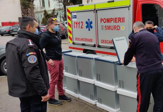 Beard Brothers a donat ISU Cluj 10 frigidere mobile pentru transportul vaccinului anti-COVID