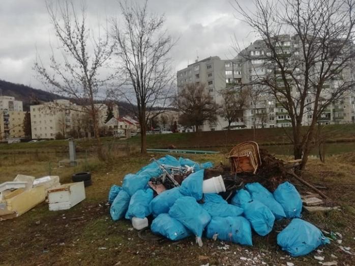 """Curățenie și stăvilar pentru oprirea deșeurilor, pe Someș, după ce activiștii """"au bombardat"""" primăria cu sesizări"""