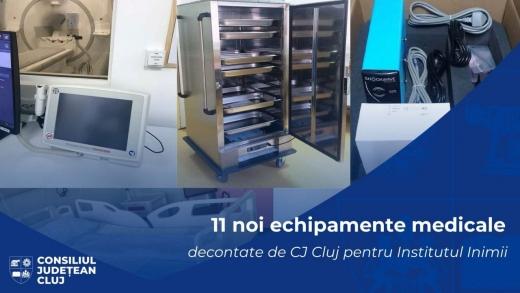 11 aparaturi medicale noi, pentru Institutul Inimii din Cluj