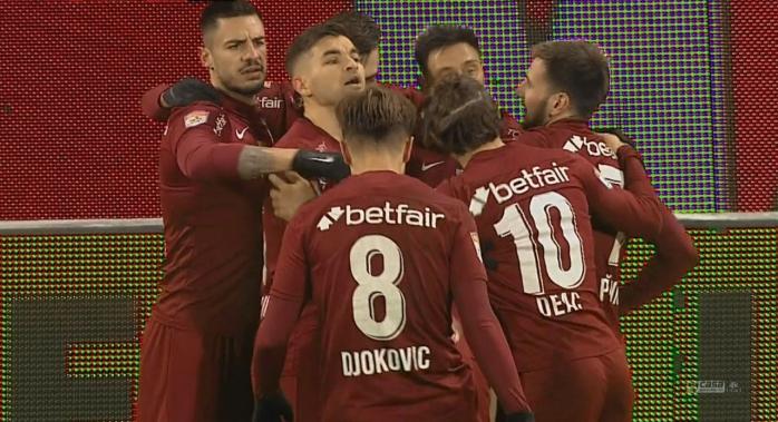 CFR Cluj a început anul cu o victorie! Campionii en-titre au egalat liderul FCSB în clasament