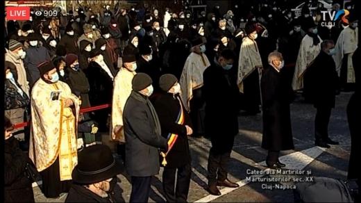 VIDEO. Clujenii au venit în număr mare la Slujba de Înmormântare a Episcopului Florentin Crihălmeanu